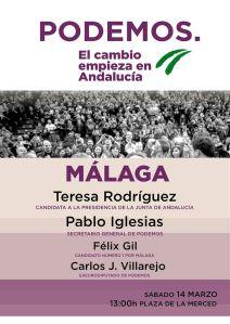 cartel podemos acto Málaga